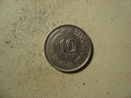 MONNAIE SINGAPOUR 10 CENTS 1971 - Singapore