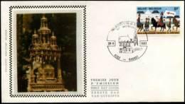 2090 - FDC Zijde - Heilig-Bloedprocessie Brugge  #3 - 1981-90