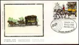 2077 - FDC Zijde - Belgica 82  #14 - 1981-90
