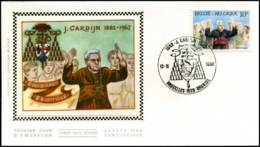2068 - FDC Zijde - Joseph Cardijn (1882-1967)  #3 - 1981-90