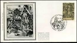 2030 - FDC Zijde - Kerstmis  #1 - 1981-90