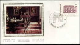 2017 - FDC Zijde - 150 Jaar Rekenhof  #4 - 1981-90