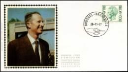 1875 - FDC Zijde - Koning Boudewijn  #1 - 1981-90