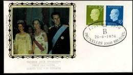 1814+1815 - FDC Zijde - Koning Boudewijn  #23 - FDC