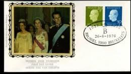 1814+1815 - FDC Zijde - Koning Boudewijn  #20 - FDC