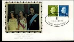 1814+1815 - FDC Zijde - Koning Boudewijn  #18 - FDC