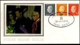 1811+1812+1813 - FDC Zijde - Koning Boudewijn  #8 - FDC