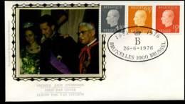1811+1812+1813 - FDC Zijde - Koning Boudewijn  #5 - FDC