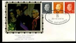 1811+1812+1813 - FDC Zijde - Koning Boudewijn  #3 - FDC