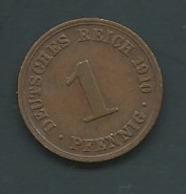 ALLEMAGNE  1 PFENNIG 1910 A DUITSLAND  TB- Laupi 14009 - [ 2] 1871-1918: Deutsches Kaiserreich