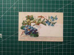 Vintage Piccoli Biglietti Uva - Old Little Cards Grapes - Flowers, Plants & Trees