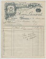 Vernon, Eure,1914, Distillerie, Henri Passarat, Quiquina Vernonnais, La Sainte Odile, Alcool, Vins Lamy - Facturen