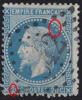 N°29B Variété Suarnet 77, Position 71A2, TB - 1863-1870 Napoleon III With Laurels