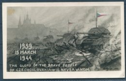 1944 GB Czechoslovak Forces Fieldpost Propaganda Postcard. 5th Anniversary Of German Invasion Of Czechoslovakia - Covers & Documents