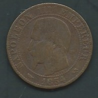 France 5 Centimes 1854 B  Laupi 14110 - C. 5 Centimes