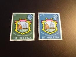 K33747- Set  MNH ST.Helena 1967 - SC. 195-196 - New Constitution - Sainte-Hélène
