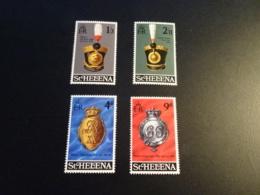 K33748- Set  Mint Hinged ST.Helena 1970 - SC. 240-243 - Regimental Emblems - Sainte-Hélène