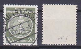 """Dienstpostmarke 20 Pf. Mit PF """"Hammerstiel Unten Offen"""" OSt. 8.11.54 DDR 8I - Service"""
