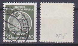 """Dienstpostmarke 20 Pf. Mit PF """"Hammerstiel Unten Offen"""" OSt. 1954 DDR 8I - Service"""