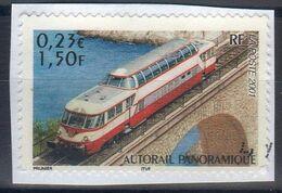 2001 - 1 T  N° 3413-AUTORAIL PANORAMIQUE-locomotive De Légende / OBLITERE - Trains