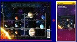 Ref. BR-V2020-04+E BRAZIL 2020 - SPACE EXPLORATION, SOLAR SYSTEM, SPACE,, SHEET MNH AND BROCHURE,9V - Amérique Du Sud