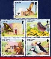 Ref. JE-V2011-4 JERSEY 2011 ANIMALS, FAUNA, CONSERVATION, BIRDS,, BUTTERFLY, NATURE, MNH 5V - Protección Del Medio Ambiente Y Del Clima