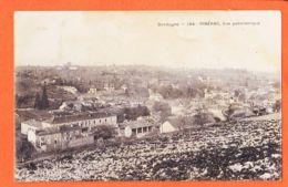 X24195 RIBERAC 24-Dordogne Vue Panoramique 1907 à Jeanne GARIDOU Port-Vendres - Riberac