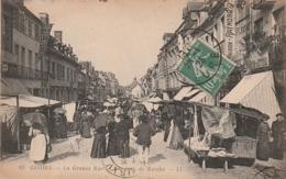 *** 27  ***  GISORS La Grande Rue Jour De Marché  - TTB - Gisors