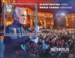 "Armenia 2018 "" World Famous Armenians"" Charles Aznavour SS Quality:100% - Armenia"