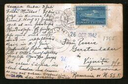 Cuba - USSR 1940 Postcard Havana - Vyzhnitsa (Vijnita, Soviet Occupation Of Bukovina), Censorship Moscow - Covers & Documents