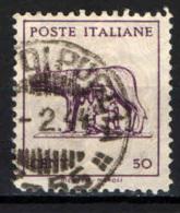 ITALIA LUOGOTENENZA - 1944 - LUPA CAPITOLINA - CON FILIGRANA - USATO - Usados