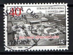ITALIA - 2020 - 40° ANNIVERSARIO DELLA STRAGE DI BOLOGNA - 2 AGOSTO 1980 - USATO - 2011-...: Oblitérés