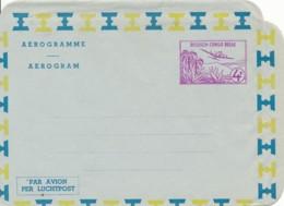 Belgium Congo – New Aerogram 4F – Paper 1 - Ganzsachen