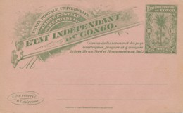 Etat Indépendant Congo – Reply Part Of Card 16 – 10 C - Enteros Postales