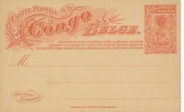 Belgium Congo – 10c Card 26 - Unilingue - Ganzsachen