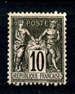 89 - 10c Noir/lilas Sage Type II (N/U) - Neuf Sans Gomme - Très Beau - 1876-1898 Sage (Tipo II)