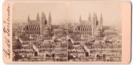 Stereo-Fotografie Fotograf Unbekannt, Ansicht Tournai, Panorama Mit Kathedrale - Photos Stéréoscopiques