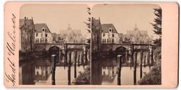 Stereo-Fotografie Fotograf Unbekannt, Ansicht Malines, Blick Zur Kirche Am Flussufer - Photos Stéréoscopiques
