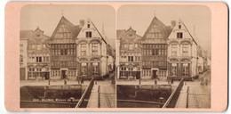 Stereo-Fotografie Fotograf Unbekannt, Ansicht Malines, Stadthäuser Sint Jozef, De Duivel & Het Paradijs - Photos Stéréoscopiques