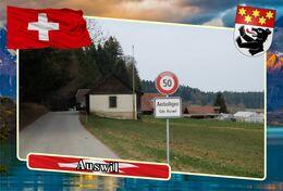 Postcard, REPRODUCTION, Municipalities Of Switzerland, Auswil 12 - Landkaarten