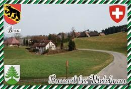 Postcard, REPRODUCTION, Switzerland, Canton Bern, Busswil Bei Melchnau - Landkaarten