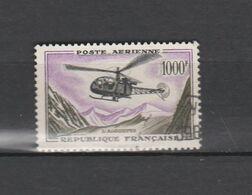 FRANCE N° 37 TIMBRE POSTE AERIENNE OBLITERE  DE 1957       Cote : 27 € - 1927-1959 Used