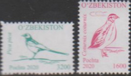UZBEKISTAN, 2020, MNH, BIRDS,2v - Andere