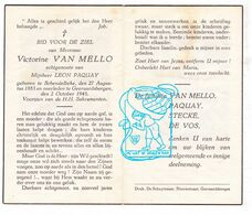 DP Victorine Van Mello ° Schendelbeke 1883 † Geraardsbergen 1945 X Leon Paquay / Stecké De Vos - Andachtsbilder