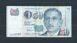 Repeater Lucky Number Singapore $50 Banknote Money 2HS 858585 (#115) - Singapore
