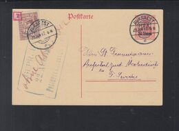 Dt. Reich Besetzung Rumänien Romania GSK 1917 Craiova Nach Turnu Severin - 1ste Wereldoorlog (Brieven)