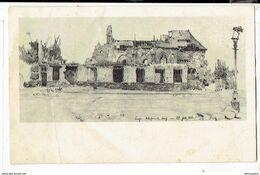 42539 - Kirche Westende Dorf Am 22 Juli 1916 - Reinertrag Fur Wohlfahrtszweke De Marinekorps - 1917 - Middelkerke