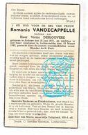 DP Romanie Vandecappelle ° Ardooie 1871 † Lichtervelde 1943 X Victor Desloovere - Andachtsbilder