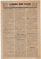 Scoutisme Scout : Divers Vieux Papiers : Jamboree 1947 - épreuves Du Novice - Echo Des Pats - Collections