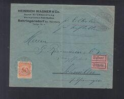 Dt. Reich Expresbrief 1925 Nürnberg Nach Schmölln - Deutschland